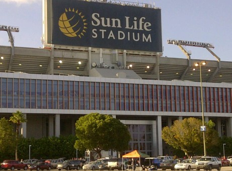 Sun Life Stadium on the morning of the 2011 Orange Bowl.