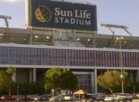Sun Life Stadium on the morning of the 2011 Orange Bowl.
